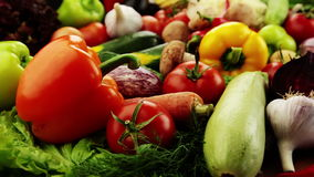 Λαχανικά. Κινηματογράφηση σε πρώτο πλάνο απόθεμα βίντεο