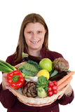 λαχανικά κοριτσιών Στοκ Φωτογραφίες