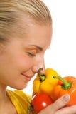 λαχανικά κοριτσιών Στοκ Εικόνες