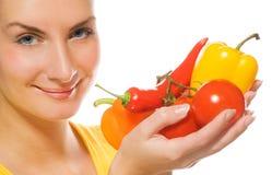 λαχανικά κοριτσιών Στοκ φωτογραφίες με δικαίωμα ελεύθερης χρήσης