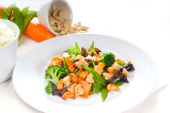 λαχανικά κοτόπουλου Στοκ Εικόνα