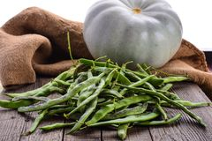 Λαχανικά, κολοκύθα και πράσινα φασόλια Στοκ εικόνες με δικαίωμα ελεύθερης χρήσης