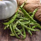 Λαχανικά, κολοκύθα και πράσινα φασόλια Στοκ Εικόνα