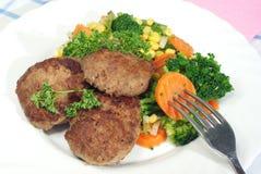 λαχανικά κρέατος σφαιρών Στοκ Εικόνες