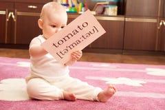 λαχανικά μελέτης μωρών Στοκ Φωτογραφία