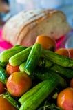 Λαχανικά με το ψωμί Στοκ Εικόνα