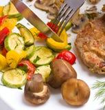 λαχανικά μπριζόλας γλου& Στοκ Φωτογραφίες
