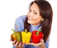 λαχανικά ομάδας κοριτσιών καρπού Στοκ Εικόνες