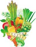 λαχανικά ομάδας Στοκ Εικόνες