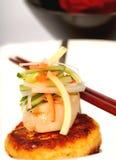 λαχανικά οστράκων καβουριών κέικ ορεκτικών Στοκ φωτογραφία με δικαίωμα ελεύθερης χρήσης