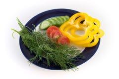 λαχανικά πιάτων Στοκ Εικόνα