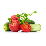 Λαχανικά, που απομονώνονται φρέσκα Στοκ Φωτογραφίες