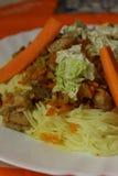 Λαχανικά πουλερικών νουντλς ρυζιού Στοκ φωτογραφία με δικαίωμα ελεύθερης χρήσης