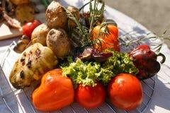 Λαχανικά που μαγειρεύονται στη σχάρα Στοκ εικόνα με δικαίωμα ελεύθερης χρήσης