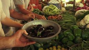 Λαχανικά που τίθενται στην επίδειξη απόθεμα βίντεο