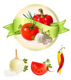 λαχανικά προϊόντων ετικετώ Στοκ Φωτογραφίες