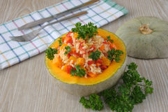 λαχανικά ρυζιού κολοκύθας Στοκ Φωτογραφία