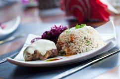 λαχανικά ρυζιού κρέατος Στοκ Φωτογραφία