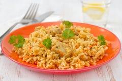 λαχανικά ρυζιού χοιρινού κρέατος Στοκ Φωτογραφία