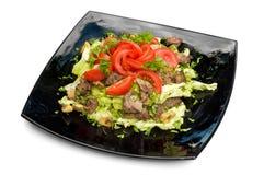 λαχανικά σαλάτας κρέατος στοκ εικόνα