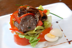 λαχανικά σαλάτας κρέατο&sigma Στοκ Εικόνες
