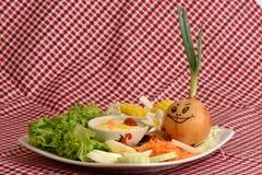 Λαχανικά σαλάτας, τρόφιμα που είναι υγιεινά Στοκ Εικόνα