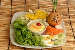 Λαχανικά σαλάτας, τρόφιμα που είναι υγιεινά Στοκ εικόνα με δικαίωμα ελεύθερης χρήσης