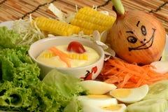 Λαχανικά σαλάτας, τρόφιμα που είναι υγιεινά Στοκ Εικόνες