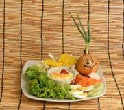 Λαχανικά σαλάτας, τρόφιμα που είναι υγιεινά Στοκ Φωτογραφία
