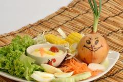 Λαχανικά σαλάτας, τρόφιμα που είναι υγιεινά Στοκ Φωτογραφίες