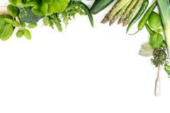Λαχανικά σε ένα λευκό Στοκ εικόνες με δικαίωμα ελεύθερης χρήσης