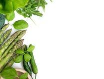 Λαχανικά σε ένα λευκό Στοκ Εικόνες