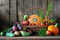 Λαχανικά σε ένα καλάθι στοκ εικόνα με δικαίωμα ελεύθερης χρήσης