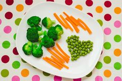 Λαχανικά σε ένα πιάτο Στοκ εικόνα με δικαίωμα ελεύθερης χρήσης