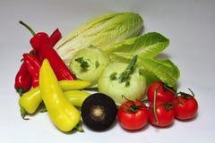Λαχανικά σε μια άσπρη ανασκόπηση Στοκ Φωτογραφία