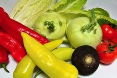 Λαχανικά σε μια άσπρη ανασκόπηση Στοκ Εικόνα