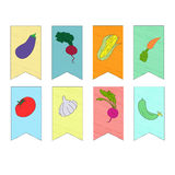 Λαχανικά στη διανυσματική απεικόνιση σημαιών Στοκ Φωτογραφία
