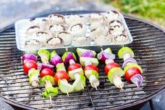 Λαχανικά στη σχάρα Στοκ φωτογραφία με δικαίωμα ελεύθερης χρήσης