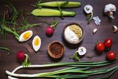 Λαχανικά στον αγροτικό πίνακα Στοκ Φωτογραφία