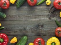 Λαχανικά στον ξύλινο πίνακα Στοκ φωτογραφία με δικαίωμα ελεύθερης χρήσης