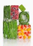 Λαχανικά στους κύβους πάγου Στοκ Εικόνες