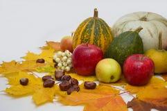 Λαχανικά στο ελαφρύ υπόβαθρο, κολοκύθα, μήλα Στοκ φωτογραφία με δικαίωμα ελεύθερης χρήσης
