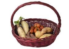 Λαχανικά στο καλάθι στοκ φωτογραφίες με δικαίωμα ελεύθερης χρήσης