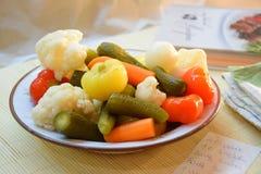 Λαχανικά στο πιάτο Στοκ εικόνες με δικαίωμα ελεύθερης χρήσης