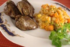 λαχανικά συκωτιού κοτόπ&omicr Στοκ φωτογραφία με δικαίωμα ελεύθερης χρήσης