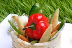 λαχανικά σχαρών τροφίμων Στοκ εικόνα με δικαίωμα ελεύθερης χρήσης