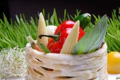 λαχανικά σχαρών τροφίμων Στοκ Εικόνες
