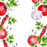 Λαχανικά σχεδίων Watercolor Στοκ Φωτογραφίες