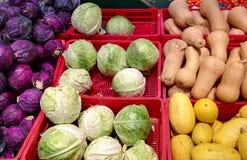 Λαχανικά φθινοπώρου στην υπεραγορά Στοκ Εικόνες