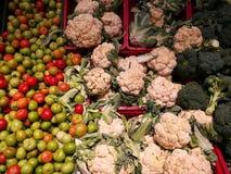 Λαχανικά φθινοπώρου στην υπεραγορά Στοκ Εικόνα